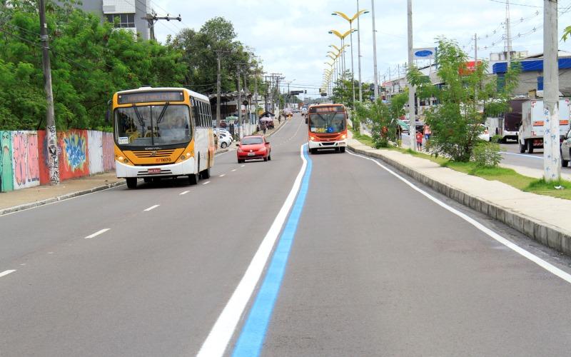Em 12 capitais, Manaus é a 11ª na proporção de faixas e corredores de ônibus