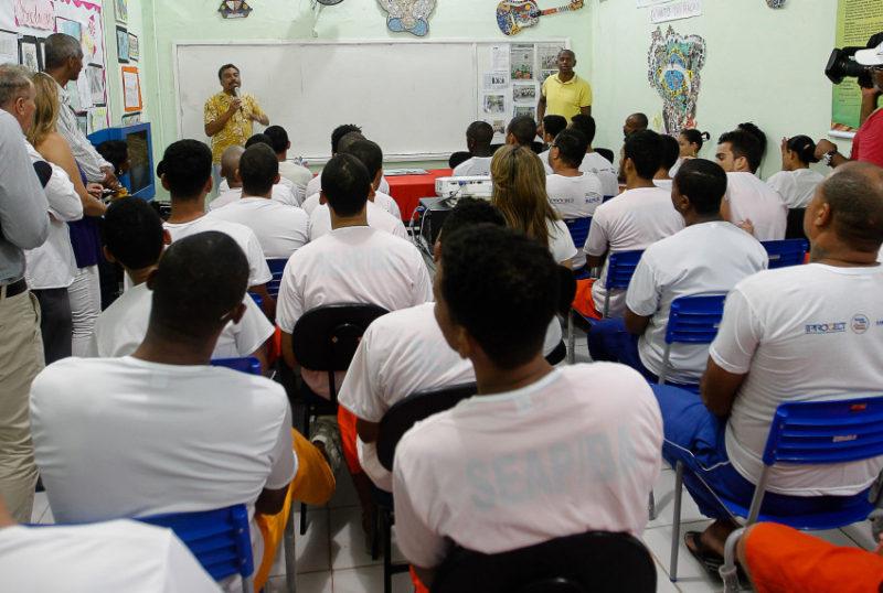Salvador- BA- Brasil- 07/11/2015- Aulão preparatório para o Enem na Penitenciária Lemos Brito. Foto: Carol Garcia/ GOVBA