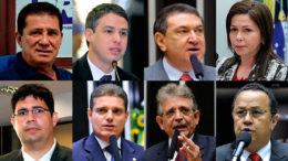 """Dos oito parlamentares, só Hissa Abrahão e Pauderney Avelino declaram voto """"sim"""" pela cassação de Eduardo Cunha (Foto-montagem)"""