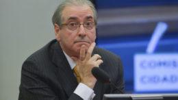 Brasília - O deputado Eduardo Cunha durante  reunião da Comissão de Constituição e Justiça da Câmara que tenta votar o parecer do deputado Ronaldo Fonseca  sobre o seu pedido para anular a sessão do Conselho de Ética que aprovou a cassação de seu mandato (José Cruz/Agência Brasil)