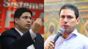 Hissa Abrahão foi multado e Marcelo Ramos, conseguiu manter a propaganda (Fotos: Divulgação)