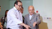 O secretário Pedro Elias e o governador José Melo: operação da PF atinge o governo do Estado (Foto: BNC Amazonas)