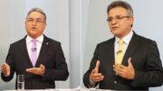 Edmilson Rodrigues e Zenaldo Coutinho fazem disputa acirrada em Belém (Foto: Blog do Barata/reprodução)