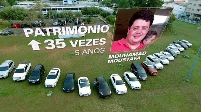 Mouhamad Moustafa chefiava, de acordo com a Polícia Federal, uma organização que fraudava a saúde do Estado (Foto: Reprodução/TV Globo)