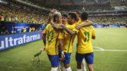 Neymar abriu o placar na goleada do Brasil sobre a Bolívia, em Natal (Foto: SporTV/Reprodução)