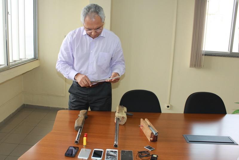 Secretário Pedro Florêncio suspeita de articulação entre presos para fuga em massa (Foto: Antônio Assis/Seap)