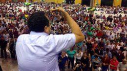 Mensagem de pessoas ligadas a Silas Câmara pede mobilização de 5 mil líderes religiosos (Foto: Karol Bacelar/Divulgação)