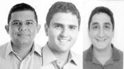 Os vereadores mais votados em Manaus foram João Luiz, Hiram Nicolau e Reizo Castelo Branco (Fotos da urna)