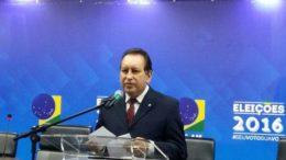O presidente do TRE, Yêdo Simões, fez a inauguração do espaço para divulgação das eleições (Foto: Divulgação)