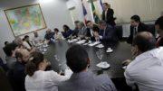 Secretários e juízes debateram sobre criação de núcleos de conciliação (Foto: Igor Braga/TJAM)
