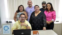 Nossa equipe, incompleta: Valmir Lima, Rosário Silva, Maria Derzi, Cleber Oliveira, João Machado e Rosiene Carvalho (Foto: João Machado)