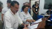 Virgílio Viana, da FAS, e Ana Aleixo, do Ipaam, assinaram parceria (Foto Ipaam/Divulgação
