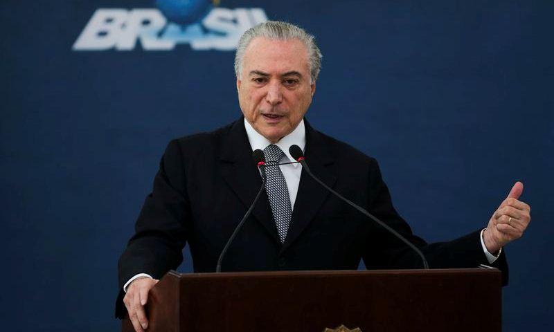 Brasília - O presidente Michel Temer participa da apresentação do novo cartão Construcard, no Palácio do Planalto.(José Cruz/Agência Brasil)