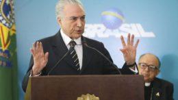 Presidente Michel Temer discursa durante Cerimônia de Migração das Rádios AM para FM. (Brasília - DF 07/11/2016). Foto: Antonio Cruz/ Agência Brasil