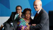 Luislinda Valois e o ministro da Justiça, Alexandre de Moraes lançaram cartilha  (Foto: Wilson Dias/Agência Brasil)