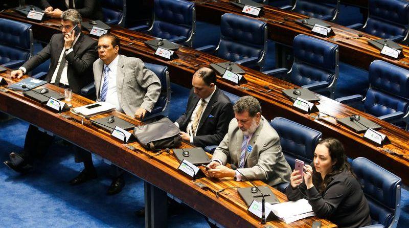 Já quase esvaziado, Senado aprovou reforma política nesta quarta (Antônio Cruz/Agência Brasil)
