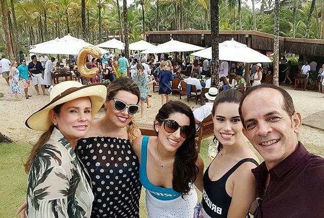 Eduardo Braga e Sandra Braga no casamento da filha