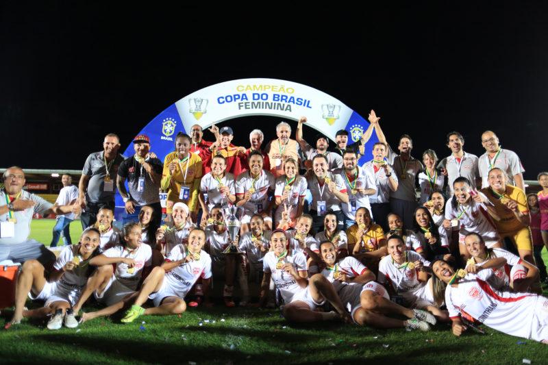 Audax foi o campeão do campeonato brasileiro feminino de futebol de 2016. (Foto:: Lucas Figueiredo/CBF)