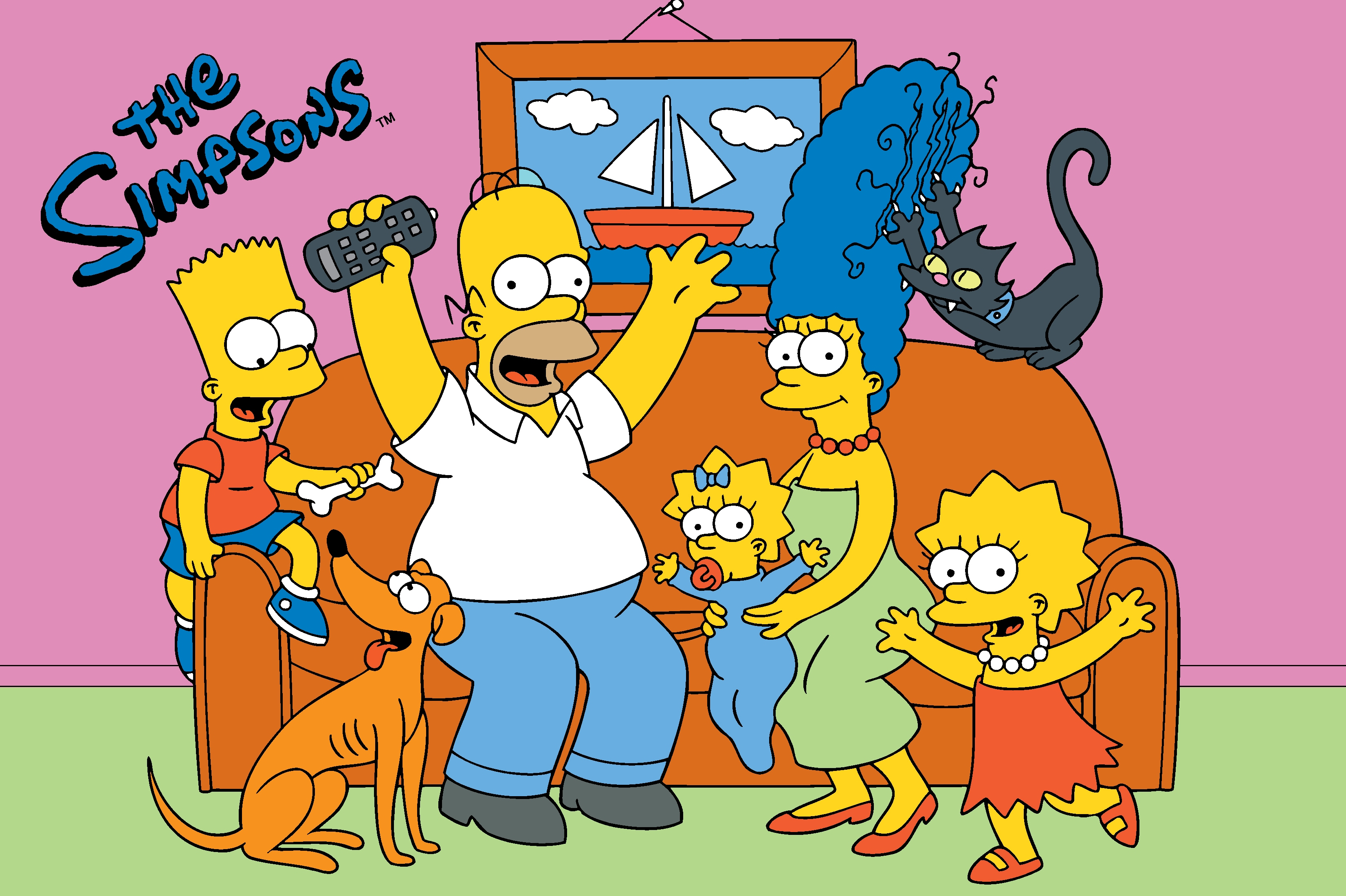 how to draw the simpsons family on the couch