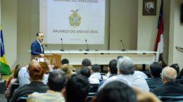 Números foram apresentados a jornalistas pelo secretário da Sefaz, Afonso Lobo, nesta quarta-feira, 28 (Foto: Valdo Leão/Secom)