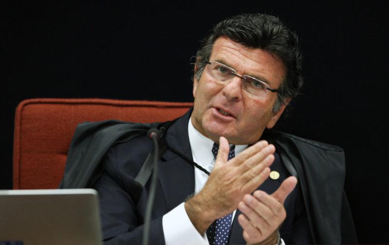 Ministro Luiz Fux durante sessão da 1ª turma do STF. Foto: Nelson Jr./SCO/STF (21/06/2016)
