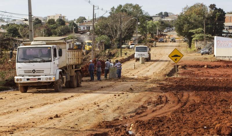 Obra urbanização (Foto: Pedro Ribas/ANPr/Fotos públicas)