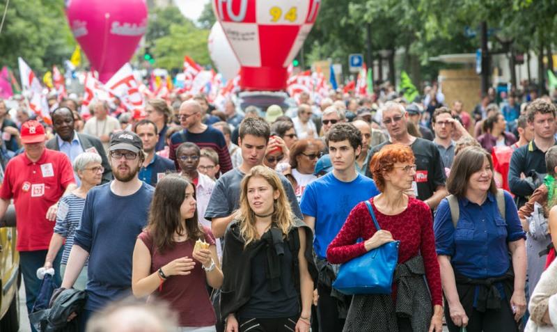 Paris protesto (Foto: F. Blanc/ Force Ouvrière/Fotos Públicas)