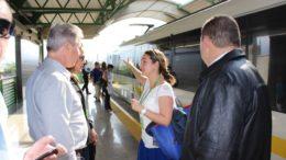O prefeito Arthur Virgílio Neto e comitiva em estação do VLP de Medellín, na Colômbia (Foto: Ulisses Marcondes/Semcom)