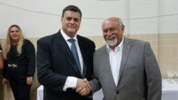 Bruno Ramalho, do PMDB, teve o apoio do deputado Belarmino Lins, do Pros, durante o processo para assumir a prefeitura (Foto: Divulgação)