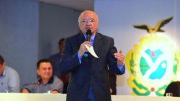 Governador José Melo (PROS) responde a vários processos de cassação do mandato na Justiça Eleitoral (Foto Joelç Arthus/Secom)