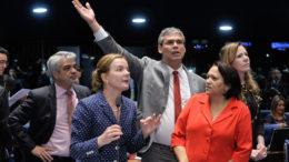 Para o grupo, o PT não deveria apoiar o partido do presidente Michel Temer, visto por eles como o principal responsável pelo impeachment da ex-presidente Dilma Rousseff (Foto: Waldemir Barreto/Ag Senado)