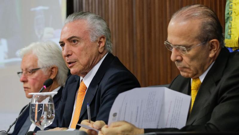 PF cita Temer, Padilha e Moreira Franco em esquema da Odebrecht