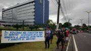 ALE ICMS Protesto (Foto: Rosiene Carvalho)