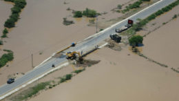 04/03/2016- Tumbes, Peru- Presidente Ollanta Humala inspeccionó, por vía aérea, zonas afectadas por fuertes lluvias en la región Tumbes. Foto: Presidência do Peru