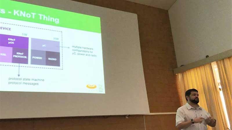 Exposição da Plataforma Knot: inovação tecnológica integrando coisas e internet (Foto: Divulgação/Cesar)