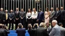 Representantes do Amazonas e de Estados do Norte participaram da sessão solene no Senado (Foto: Diego Queiroz)