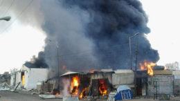 Iemen, Armazém de suprimentos da Oxfam em Saada, no Iêmen, todo destruído após um ataque aéreo
