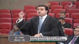 O advogado Gustavo Severo, que defendo o senador Eduardo Braga e a superintendente da Suframa, Rebecca Garcia (Foto: Reprodução)