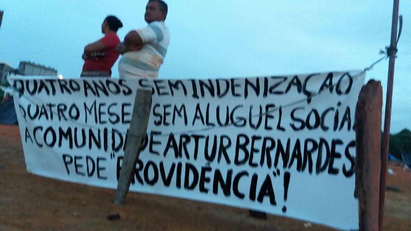 Comunidade Arthur Bernardes protesto 1