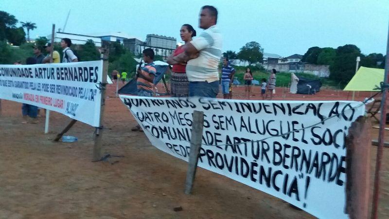 Comunidade Arthur Bernardes protesto 2