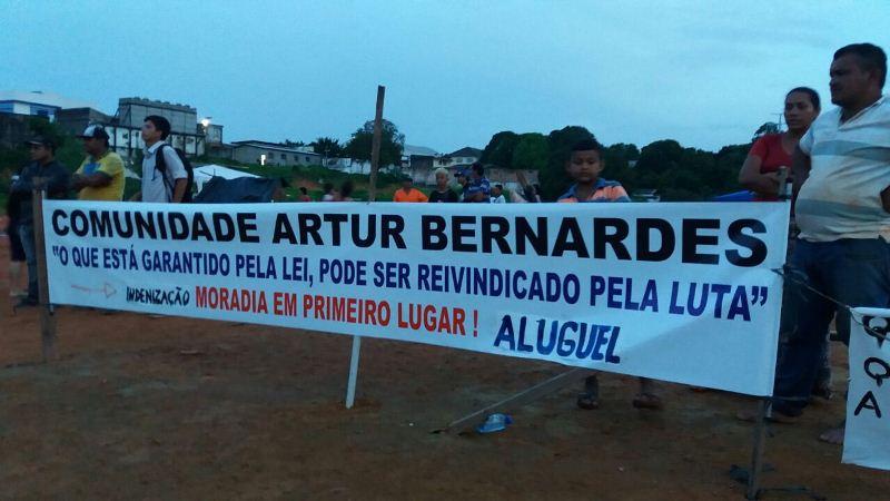 Comunidade Arthur Bernardes protesto 6