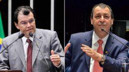 Eduardo Braga e Omar Aziz serão ouvidos pela Polícia Federal no inquérito (Fotos: Divulgação)