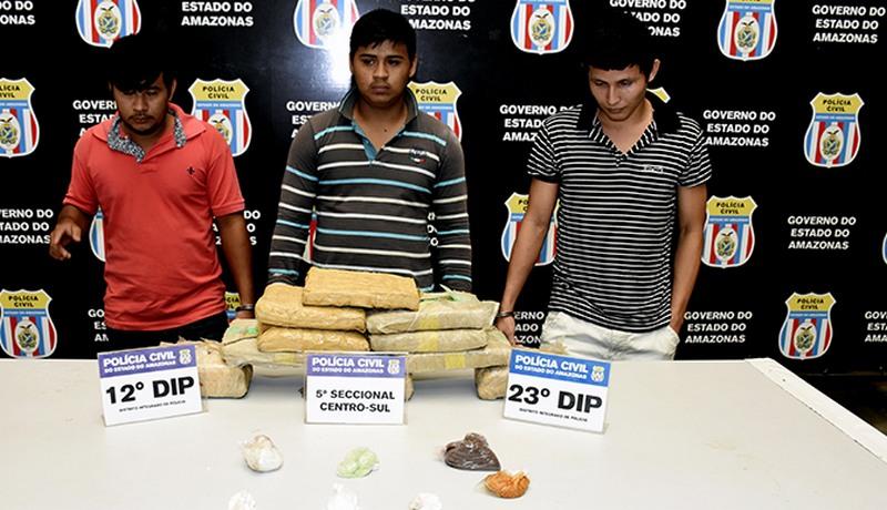 Irmãos drogas boca fumo (Foto: PC/Divulgação)
