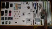 Material encontrado durante revista realizada pela Seap com o apoio da Polícia Militar (Foto: Seap)