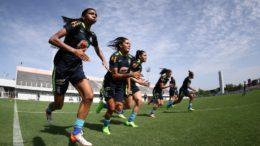 Seleção feminina Manaus (Foto: Lucas Figueiredo/CBF)