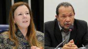 A senadora Vanessa Grazziotin e o marido dela, Eron Bezerra serão investigados em inquérito (Fotos: Divulgação)