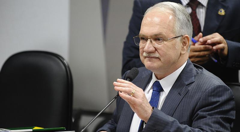 Ministro Edson Fachin é responsável pela relatoria da delação premiada da JBS (Foto: Marcos Oliveira/Agência Senado)