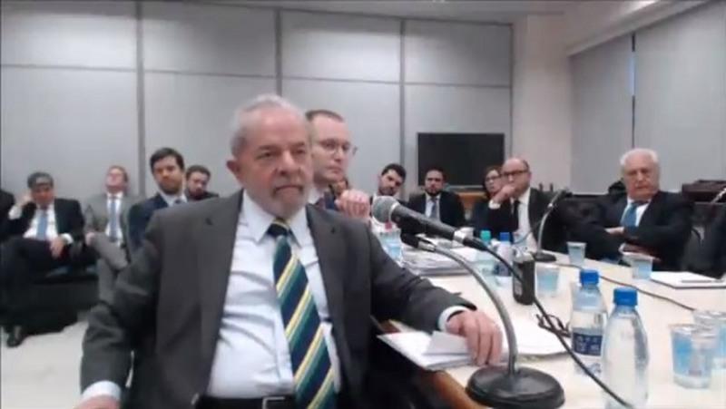 Lula depõe a Sérgio Moro (Foto: YouTube/Reprodução)