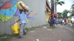 Índios Warao, da Venezuela, são levados para abrigo em Manaus (Foto: Alex Pazuello/Semcom)