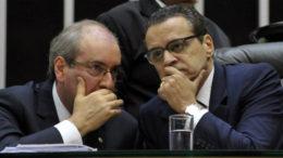 Ex-presidentes da Câmara Eduardo Cunha e Henrique Alves estão presos na Lava Jato (Foto: Agência Câmara/Divulgação)